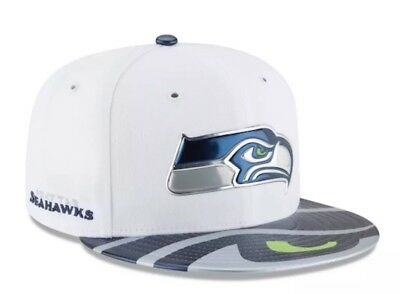 9518eb3fcdc Seattle Seahawks White NFL Draft Official On Stage 59FIFTY Fitted New Era