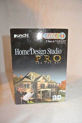 Punch Software Home Design Studio PRO For Mac -NEW SEALED BOX-