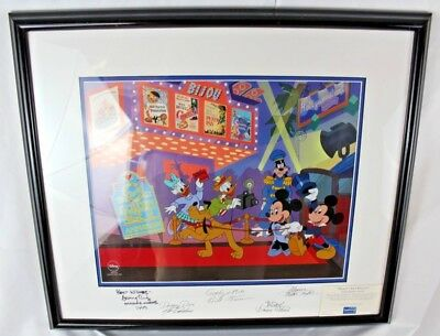 Disney Framed Signed Mickey's Film Festival Limited Edition