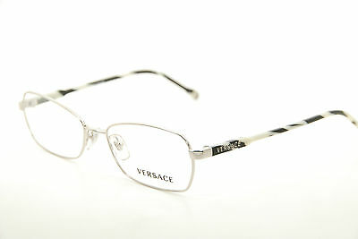 9f633faca48 New Authentic Versace 1192 1000 Silver Stripe 54mm Frames Eyeglasses RX  Italy