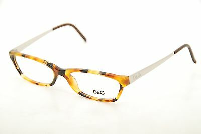 889f8d3a8f New Authentic Dolce   Gabbana DG 1106 629 Havana Silver Brown 53mm  Eyeglasses RX