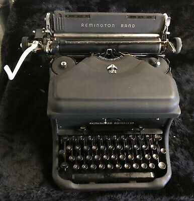 Rare Transistional 1927-28 Remington Rand Model 6 Noiseless Typewriter SN- 60064