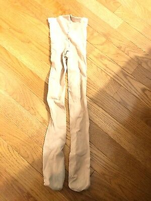 Girls Tan Bloch Dance Ice Skating Footed Tights Size Medium 6-8