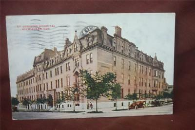 Vintage Postcard - St. Joseph's Hospital - Milwaukee, Wi.  Posted 1910