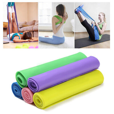 1 X Elastic Yoga Pilate Rubber Stretch Resistance Exercis Power Band Strap RX