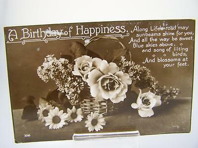 Postcard A birthday of happiness c1910's                 163