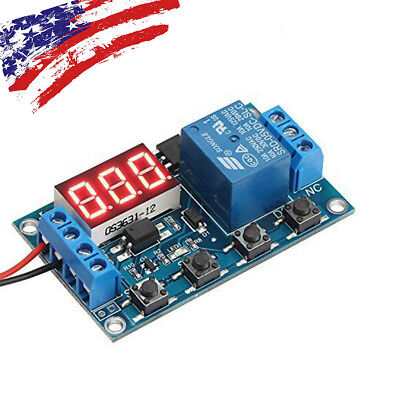 Switch Trigger Time Delay Circuit Timer Cycle Adjustable 6-30V Relay Module US#