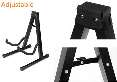 Folding Acoustic/Bass/Electric Guitar Stand Holder Black Adjustable AU Portable