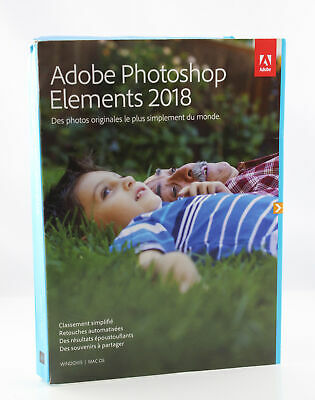 Adobe Photoshop Elements 2018 | Standard| PC/Mac | Disque - french