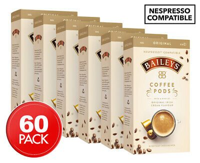 6 x Baileys Original Nespresso Compatible Coffee Pods 10-Pack
