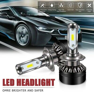 2X H7 Led Headlight bulb 6000LM 6500K DOT All-in-One Conversion Kit For Hyundai