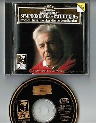KARAJAN Tschaikowsky Sym.6 Pathetique JAPAN 24k GOLD CD POCG-9354 w/PS BOOKLET
