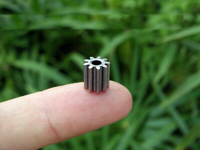 10pcs Alloy gear Outer diameter 8.1 MM 9 teeth hole 3.15 MM for 550 motor DIY
