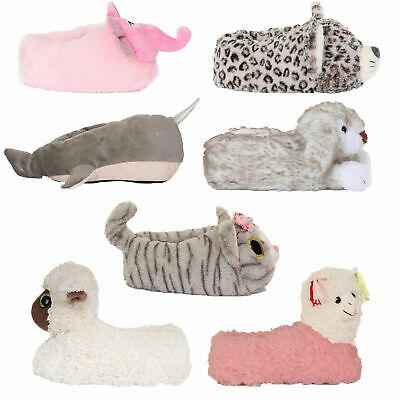8170592a9fa Loungeable Womens Cute 3D Animal Slippers Ladies Novelty Cosy Plush Bootie  Shoes