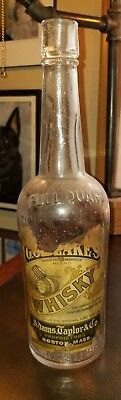 """~A Beauty~ *2* Barrel """"pictorial"""" Blakes Labeled & Embossed Whiskey~Boston,mass."""