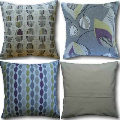 Designer Cushion Covers made with Clarke /& Clarke Pemba Fuchsia Pink Embroidered