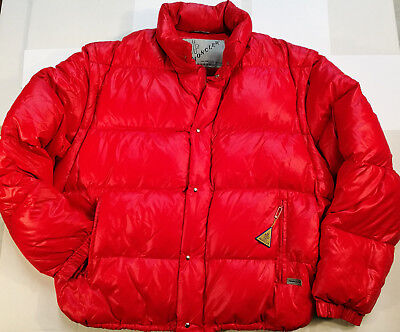 Moncler Piumino Giacca/gilet Jacket Bomber Red Rosso Vintage '80S