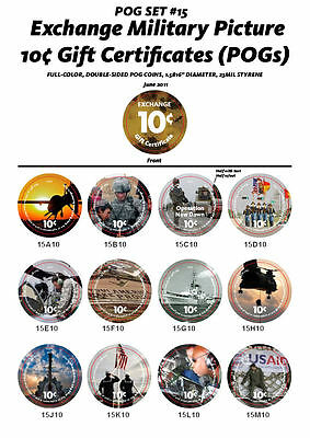 15th  Print  About Uncir. 10 Cent  Set of AAFES  Pogs  from 2011 printing