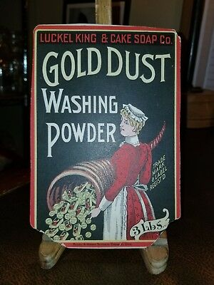 Vintage 1880s Gold Dust Washing Powder Advertising Sign