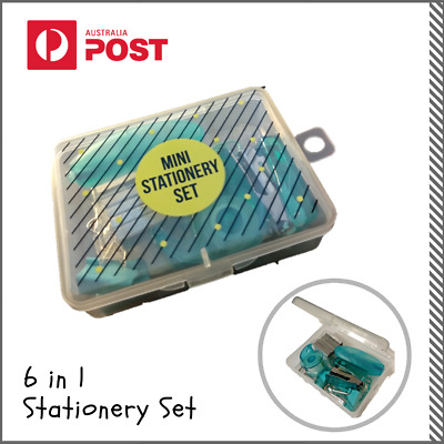 6 in 1 Unique Mini Stationery Set: Compact, New and Portable - Arts And Crafts