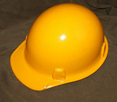 vintage 1982 yellow MSA hard hat FREE SHIPPING