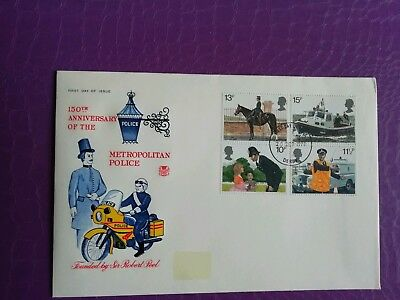 1979 GB Stamps  Stuart First Day Cover 150th Anniversary of Metropolitan Police