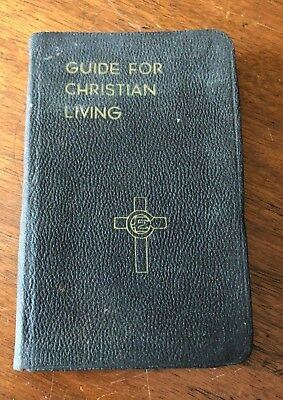 """WW II 2 1942 """"Guide for Christian Living"""" Army, Navy, Marine, Military, Bible"""