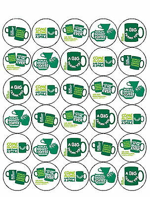 30 *Pre-Cut* Macmillan Cancer Mixed Cup Cake Edible Rice Wafer Paper Toppers