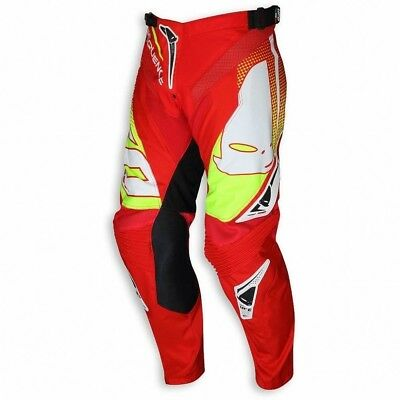 Nuovo Pantalone Pants Sequence 2018 Made In Italy Rosso Giallo Tg 50