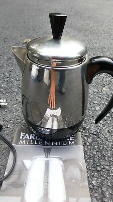 Vintage Farberware Millennium Electric Superfast 2 4cup Percloator Coffee Pot