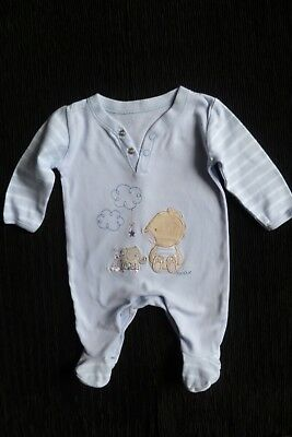 Baby clothes BOY newborn 0-1m cute Max bear applique blue babygrow SEE SHOP!