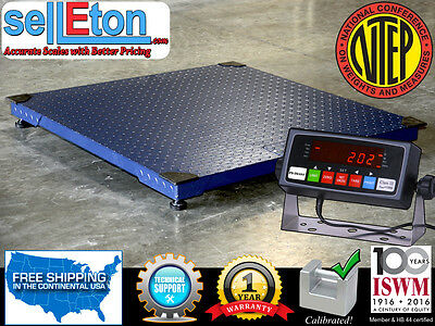 """Floor Scale 48""""X48"""" (4'x4') NTEP Legal for trade 2500 X .5 lb / Indicator"""