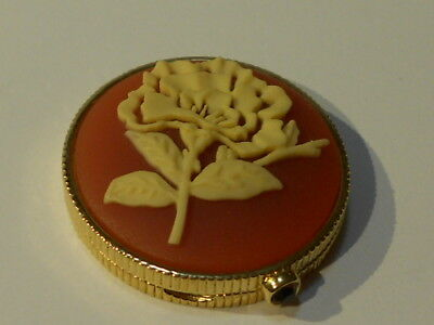Estee Lauder Round Cameo Flower Compact ( Solid Perfume ) 2009