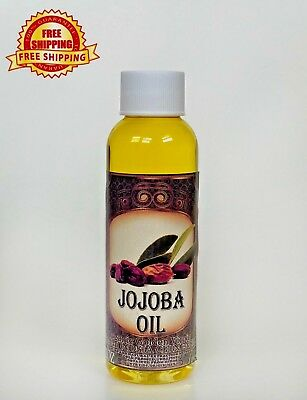 Jojoba Oil Golden Organic Carrier Unrefined Cold Pressed Raw Virgin Pure 2 Oz