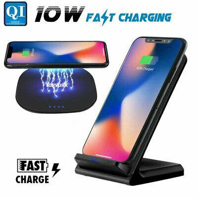 10W Wireless Charging Stand Qi Fast Charger Dock for LG G7 ThinQ G6 V20 V30 V35+