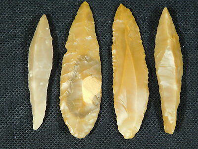 Lot of FOUR 9,000 to 4,000 Year Old Lithic Arifacts Bir Gandus Morocco 20.51gr e