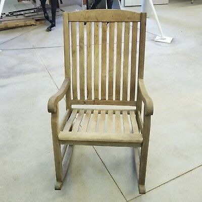 Large Solid Wood Rocking Chair Outdoor Porch Garden Patio Wood Rocker Furniture