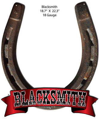 Blacksmith Reproduction Laser Cut Out Country Metal Sign 18.7x22.3