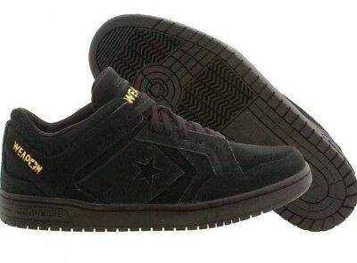 e6bbb19cab1b4c Converse Cons Weapon Men Sz 8.5 Low Top Skate Ox Lunarlon Black Leather  147493C