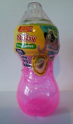 Nuby Trainer Sipeez Easy Grip Beaker Sippy Cup New Sealed 6m+ Non Spill 295ml