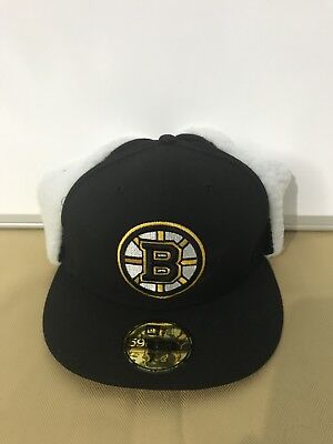 054f7fb5a5165d Boston Bruins New Era 59Fifty Nhl Flurry Fit Dog Ear Winter Fitted Hat 7 5/