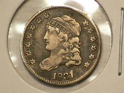 1831 US Capped Bust Silver Half Dime #G9953