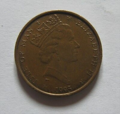 Bronze 1 Penny Coin From The Isle of Man