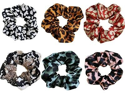 Animal Print Zebra Ladies Womens Girls Hair Scrunchies Elastics Hair Scrunchy UK