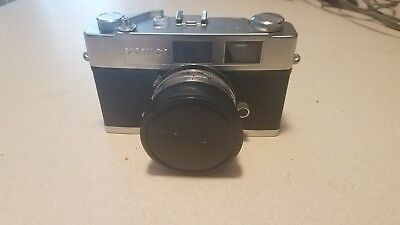 Konica Auto S2 Rangefinder 35mm Film Camera Hexanon 1.8 45mm Lens. Untested