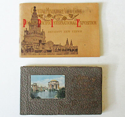 Two 1915 San Francisco Panama Pacific International Exposition View Books