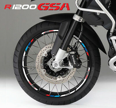 BMW R1200GSA Adventure motorcycle wheel decals rims stickers stripes R1200 GSA