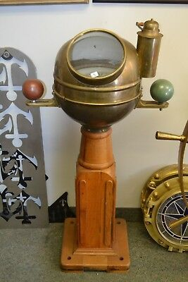 Vintage Ships Binnacle  Compass By Frank Morrison   & Son  Of Cleveland