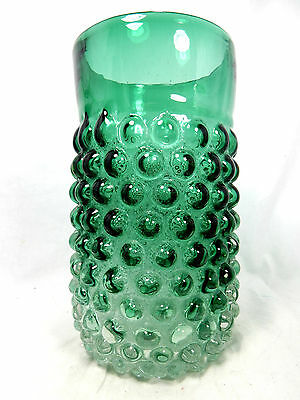 "Rare seltene original 70´s "" bubble "" design Lenti Murano glass Glas vase 23 cm"