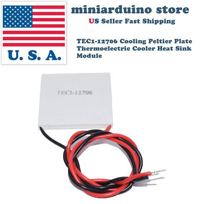 1 x TEC1-12706 Cooling Peltier Plate Thermoelectric Cooler Heat Sink Module